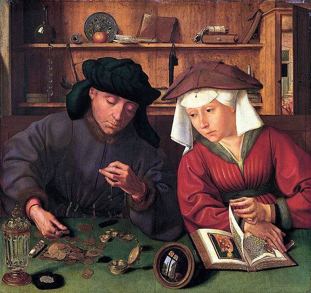The Money Changer and His Wife - Quentin Matsys 1514